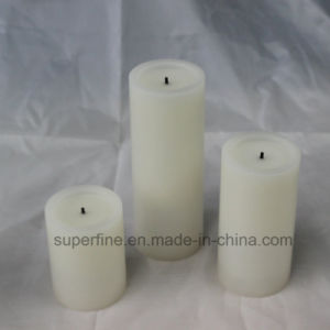 Romantic Wax Realistic Amber Candle Flickering Flameless Home Decorative LED Pillar Candle pictures & photos