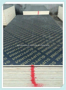 Black/Brown Film Faced Plywood with Melamine Glue pictures & photos