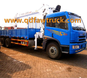 Hot Sale! FAW 10 Tons Truck Crane/ Self-Loading Truck (CA1256) pictures & photos