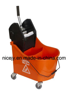 46L Plastic Mop Wringer with Double Bucket