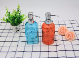 Colours Glass Liquid Soap Bottle with The Washroom pictures & photos