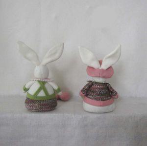 POM POM Legged Bunny Boy & Girl Easter Decoration pictures & photos