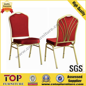 Chinese Hotel Furniture Red Steel Banquet Chair pictures & photos