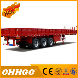Chhgc 3axle Cargo/Fence Semi-Trailer with Side Wall pictures & photos