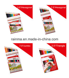 Jumbo Color Pencil with Triangle and Hexagonal Barrel pictures & photos