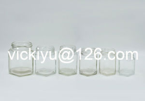 100ml~400ml Hexagon Glass Jars, Food Glass Storaging Jars