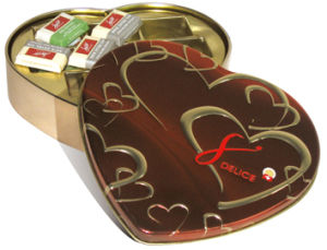 Lovely Heart Shaped Tin|Debossed and Embossed Design (JBL60031E)