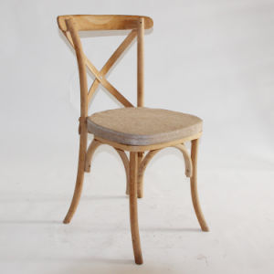 Solid Wood Oak Cross Back Chair for Export pictures & photos