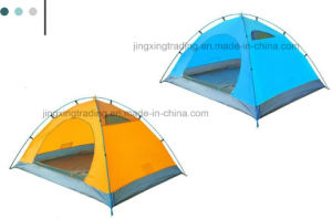 Hot Waterproof Polyester Camping Tent for 1-2 Persons (JX-CT025) pictures & photos