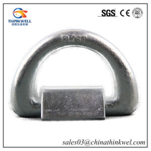 Forged Galvanized Container Lashing D Ring with Foundation pictures & photos