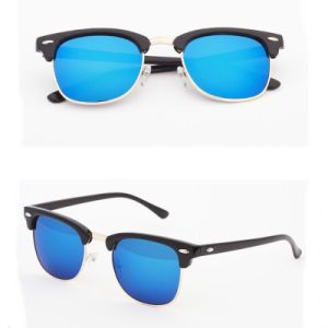 2017 New Colorful Mirror Lens Brand Name Customized Classic Rb Sunglass (3016)