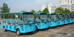 China Best Electric Sightseeing Bus for 14 Person From Dongfeng Motor with CE Certificate on Sale pictures & photos