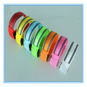 LED Sport Running Safety Reflective Canvas Strip Arm Belt pictures & photos