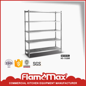 Stainless Steel 5-Tier Storage Shelf (HS-512B) pictures & photos