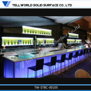 solid surface led bar topbar countertopartificial marble lighting illuminating bar counter bar top lighting