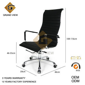 Black Artificial Leather Designer Manager Chair (GV-OC-H306) pictures & photos