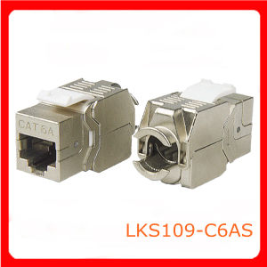 CAT6 180 Degree Toolless High Quality Keystone Jack (LKS109-C6AS)