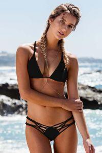 Women 2017 Sexy Handwork Weave Bikini Set Bottom Swimsuit 2 Piece 1 pictures & photos