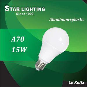 Aluminum Plastic Heat Sink 15W LED Bulb Lamp for Indoor Use
