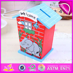 2015 New Wooden Saving Box for Kids, Wooden Toy Money Saving Box for Children, High Performance Coin Saving Box for Baby W02A027 pictures & photos