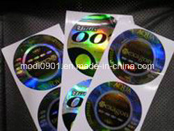 Anti-Counterfeiting Holographic Paper Circular Label Sticker Holographic Label - Laser 3D Logo pictures & photos
