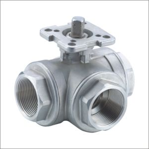 Stainless Steel Thread 3 Way Ball Valve pictures & photos
