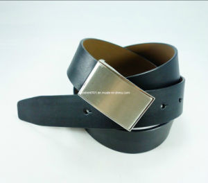 Formal Men′s Leather Belt with Plain Buckle (EU1380-33) pictures & photos