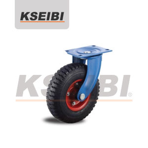 Good Quality Kseibi Swivel Plate Pneumatic Rubber Caster pictures & photos