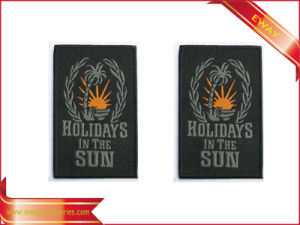 Adhesive Woven Patch Garment Woven Patch with Back Sticker pictures & photos
