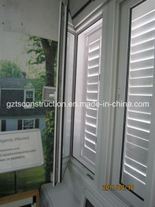 Double Glazed Low E Glass Arc PVC/UPVC Casement Shutter Window pictures & photos