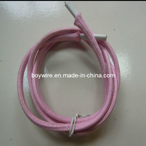 Light Pink Power Cord Fabric Braided Cable pictures & photos