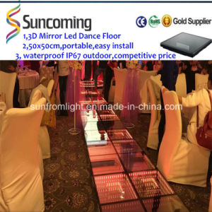 Portable High Quality 3D Mirror Time Tunnel Dance Floor Panels pictures & photos