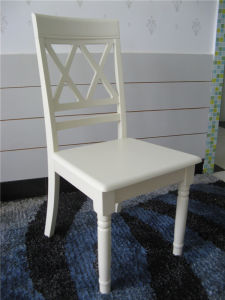European Style Wooden White Color Dining Chair Restaurant Chair (M-X1005) pictures & photos