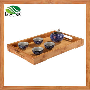 Bamboo Rectangle Shaped Tea Tray / Tea Plate with Handles pictures & photos