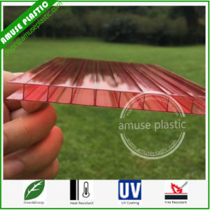 10-Years Warranty Frosted Polycarbonate Two-Layers Hollow PC Corrugated Plastic Roofing Sheets pictures & photos