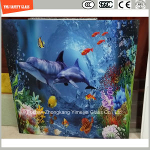 High Quality 3-19mm Digital Paint/ Silkscreen Print/Acid Etch/Frosted/Pattern Flat/Bent Tempered/Toughened Glass for Partition Wall/Floor/ with SGCC/Ce&CCC&ISO pictures & photos
