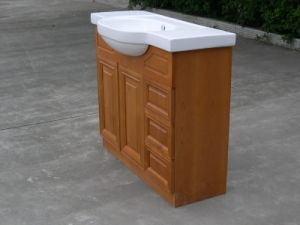 Cherry Wood Bathroom Vanity with Basin Yb121 (11) pictures & photos