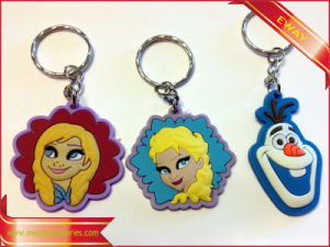 Cartoon Rubber Keychain Promotion Rubbe Keychain pictures & photos
