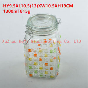 Large Food Glass Jar Big Seal Glass Jar 1300ml Candy Glass Jar