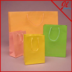 Colored Glossy Paper Euro Totes Bags Paper Shopping Bags pictures & photos