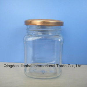Square Soy Cheese Storage Glass Bottle and Jam Jar pictures & photos