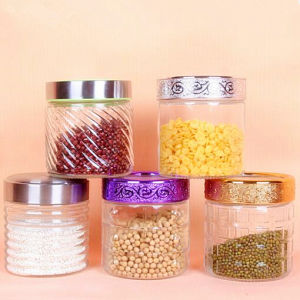 Colorful Glass Jar Candle Jar Glass Container Sealed Glass Tea Jar pictures & photos