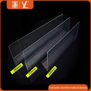 Acrylic Shelf Divider for Supermarket Display