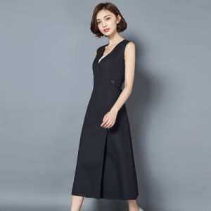 Factory Price Sleeveless Ladies Dress Korean Design pictures & photos