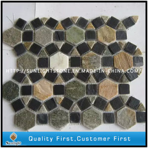 Natural Colorful Slate Mosaic Tile for Walling and Flooring pictures & photos