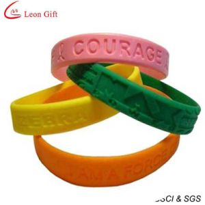 Cheapest Silicone Custom Bracelet for Advertising (LM1626) pictures & photos