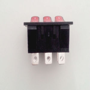 Rocker Switch Three Push-Button Electric Switch/Push Button Switch Snap Kcd3 pictures & photos