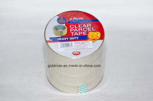 4 Rolls Packing BOPP Clear Adhesive Tape for Gift Wrapping/Decoration/Sealing (STK-002)