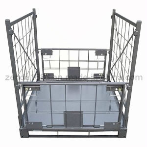 Metal Foldable Cage Pallet / Stacking Stillage Container pictures & photos