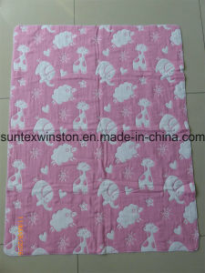 100% Cotton 6layers Jacquard Blanket pictures & photos